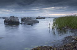 Calm Ocean with Rocks Stock Image