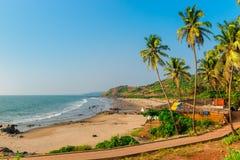 Calm ocean and sandy beach Stock Photos