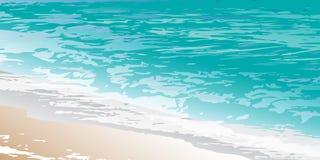 Calm_ocean_surf illustration stock