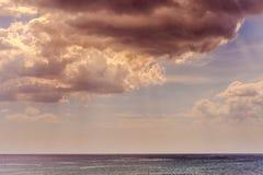 Calm ocean on tropical sunrise. The calm ocean on tropical sunrise Stock Image