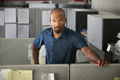 Calm Office Worker Stock Photo