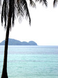 Calm Paradise. Shot from Kho Phangan Thailand, facing a little Island Royalty Free Stock Photography