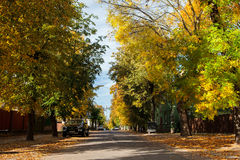 Calm and picturesque street in Zverynas district in Vilnius, Lit Stock Photos