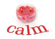 Calm pink candle Stock Image