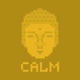 Calm pixel buddha Stock Image