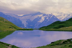 Calm pond. Eiger Mountain. Royalty Free Stock Photos