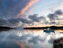 Calm port. Calm Adriatic port after storm in the sunset Stock Photography