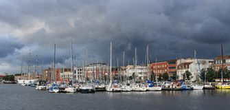 Port before rain stock image