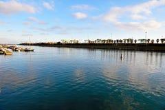 Calm Pra canal, genoa. Calm Pra canal - Voltri Genoa buffer zone Stock Images