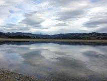 Calm Reflection. Calm day in Warrington Bay, Dunedin Stock Photography