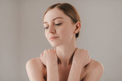 Calm and relaxed. royalty free stock photo