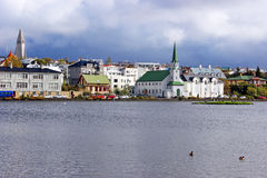 A calm Reykjavik in Iceland Stock Photos