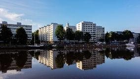 Calm river Aura in Turku Royalty Free Stock Photography