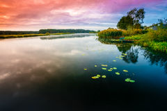 Calm River Nature Background Stock Image