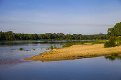 Calm river in the summer day Stock Image