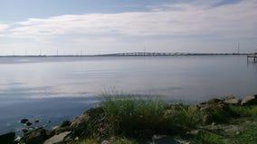 Calm river view stock photos