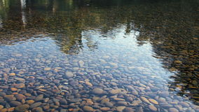 Calm scene with rocks in water at nice hotel resort stock footage