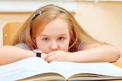 Calm schoolgirl stock photo