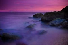 Calm Sea. A twilight scenario at the beach, phuket Thailand Royalty Free Stock Photos