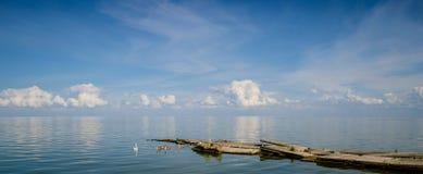 The calm sea stock photo