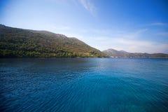 Calm sea bay Croatia Stock Images