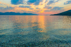 Calm sea and beautiful clouds Royalty Free Stock Images