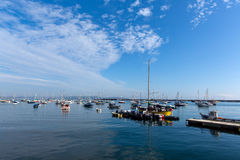 Calm sea and Blue sky Brixham marina and harbour Devon Stock Photos