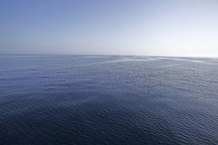 Calm sea. Blue water calm Adriatic sea Stock Images