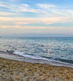 Calm sea in the early morning. Greece, Halkidiki, Kassandra Royalty Free Stock Photography