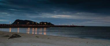 Calm sea in the evening. At Prachuap Khiri Khan, Thailand Royalty Free Stock Photos