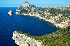 Calm sea, Mallorca bucht and the mountains. Calm sea, Mallorca bucht, the mountains Stock Photography