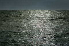 The calm sea before a night storm. Royalty Free Stock Photography