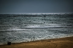 The calm sea before a night storm. Royalty Free Stock Image