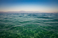 Calm Sea Ocean And Blue Sky Background. Stock image Royalty Free Stock Photo