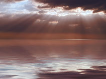 Calm Sea Stormy Sky stock image