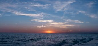 Calm Sea during Sunset Royalty Free Stock Photos