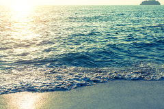 Calm sea in surreal sunset light. Nature. Royalty Free Stock Photo