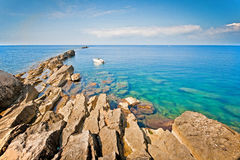 Calm sea in Trapani Stock Photos