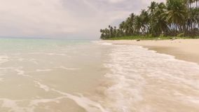 Calm sea tropical island. On Sumatra with small waves stock video footage