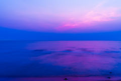 Calm sea at twilight Royalty Free Stock Image