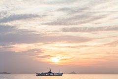 Calm Sea wave sunset view blue water ocean. Istanbul marmara sea, sunset on the islands stock photography