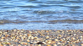 Calm sea waves beach stock footage