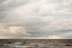 Calm sea in winter Royalty Free Stock Images