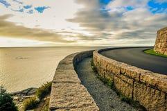 Calm seas along Acadia National Park stock photo
