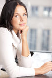 Calm and serious woman stock photography