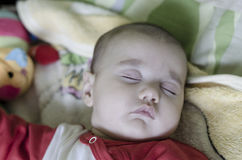 Calm sleeping baby Royalty Free Stock Images