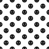 Calm smiley pattern, simple style Stock Photo