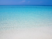 Calm and smooth ocean with water ripples Stock Photo