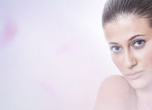 Calm softly portrait of a beauty Royalty Free Stock Images