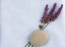 Calm spa concept with lavender Royalty Free Stock Image